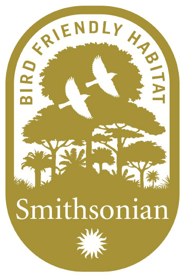 Smithsonian bird friendly habitat logo